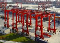 50 Ton Container Double Beam Gantry Crane With Spreader Overload Protection