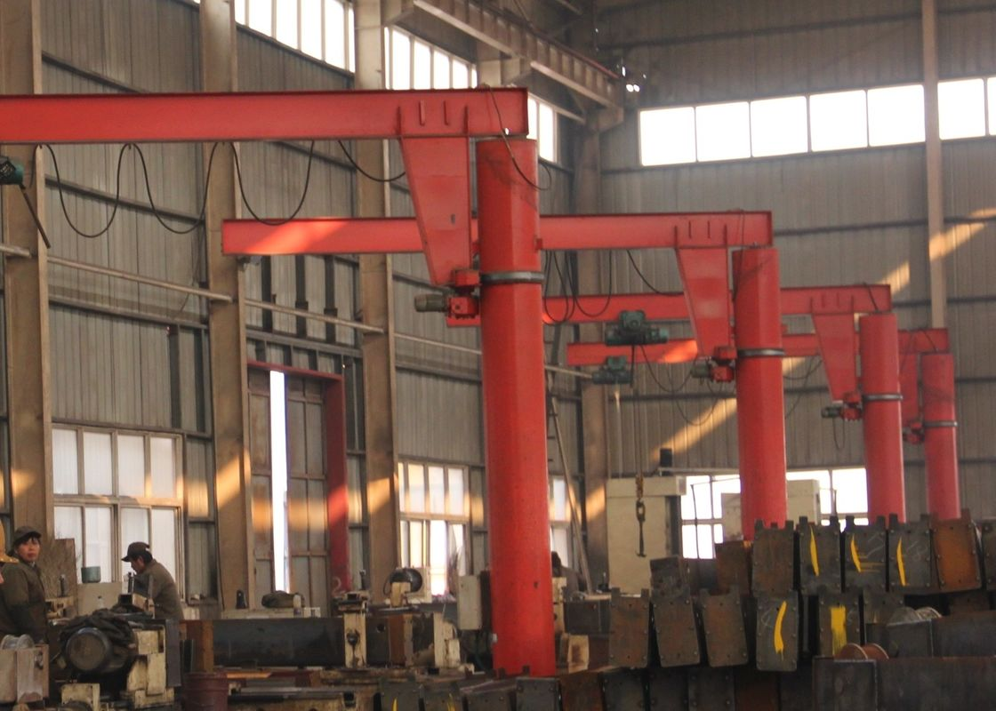 360 Degree Rotation Swing Pillar Mounted Jib Crane with Electric Hoist Free Standing