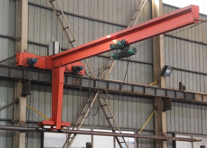 Cantilever Slewing Jib Crane With Wall Travelling Arm For Loading And Unloading Goods