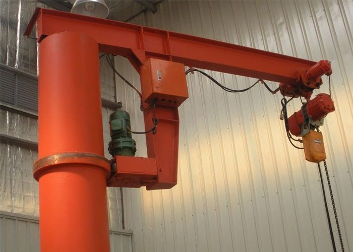1-10 Ton Column Mounted Jib Crane With Electric Hoist Remote Controller